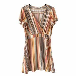 Shasa Wrap Striped Dress Pastel Colour medium